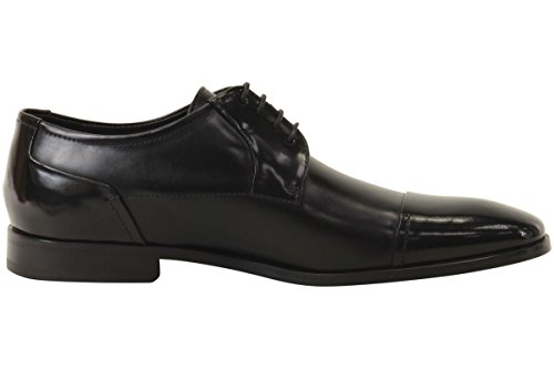 HUGO by Hugo Boss Men's Square Business Matte Leather Lace up Derby Work Shoe, Black, 11 N US by Hugo Boss (Image #4)