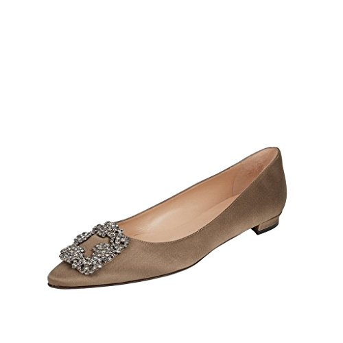 pisos de de redonda Arc Ciel Marrón en zapatos mujer punta wnXpOB