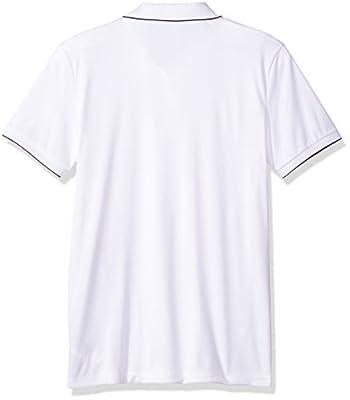 Calvin Klein Men's Short Sleeve Mix Media Mesh Logo Polo Shirt