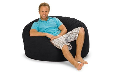 Relax Sack 4 ft. Microsuede Foam Bean Bag Sofa by Relax Sack