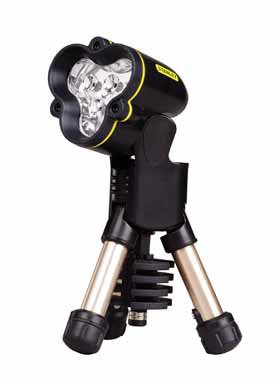 MaxLife Mini Tripod LED Flashlight, Three AA Batteries, Black/Yellow