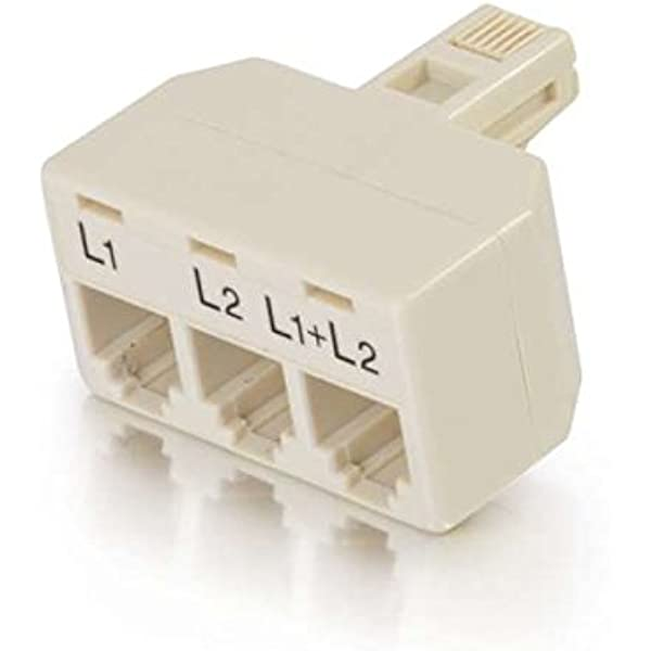 Amazon.com: C2G 41062 Two Line Telephone Splitter L1 + L2: Electronics | X 31 Phone Jack Wiring |  | Amazon.com