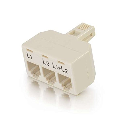 C2G/Cables to Go 41062 Two Line Telephone Splitter L1 + L2