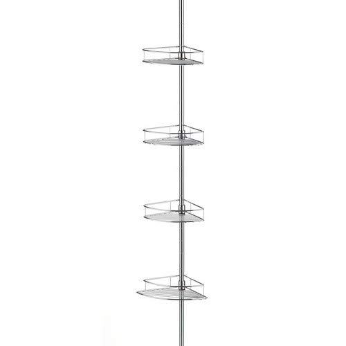Chrome Taymor Corner Shower Basket Tower with Tension Pole