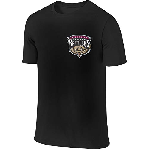 Wisconsin Timber Rattlers Men Leisure Tshirts Athletic 6XL Black ()