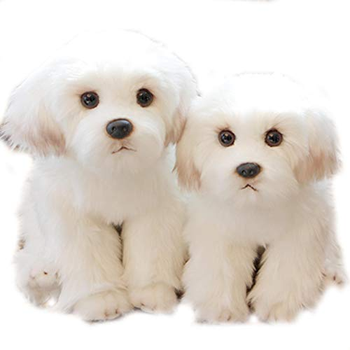 (Stuffed Dog Plush dogBichon Frise Puppy Stuffed Animal Dog Plush Toy Cute Simulation Pets Fluffy Baby Dolls Birthday)
