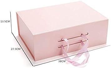 HNBGY Elegante Elegante rectángulo de cartón Rosa Cajas de Regalo con Asas: Amazon.es: Electrónica