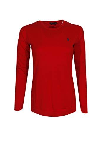 Polo Ralph Lauren Womens Pima Cotton Long Sleeve Sweater (X-Small, Red (Navy Pony)) (Ralph Lauren Pima Cotton Polo Long Sleeve)