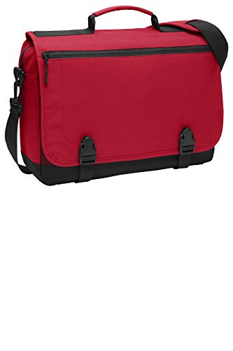 Port Authority Luggage-and-Bags Messenger Briefcase OSFA Chili Red