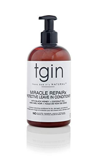tgin Miracle Repairx Protective Leave In Conditioner For Natural Hair - Dry Hair - Curly Hair - 13oz