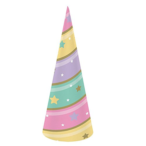 Creative Converting Unicorn Sparkle Hat Child Party Supplies, Multicolor