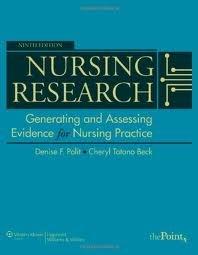 Download Nursing Research (Nursing Research (Polit)) 9th (ninth) edition pdf