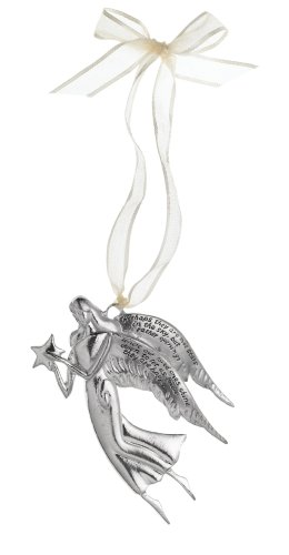 Midwest Gloves Serenity Loved Ones Angel Ornament, Pewter