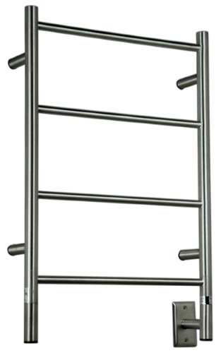 QBC Bundled Amba Heated Towel Warmer - Jeeves - ISB Model I Straight - Brushed 20.5W x 31H - 60 to 80 Watts 0.5 to 0.75 Amps - Plus Free (Jeeves Jeeves Towel Warmer)
