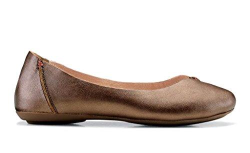 OluKai Pueo - Womens Ballet Flats Bronze/Kona Coffee - (Kona Coffee History)