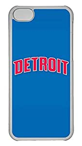 GOOD 5C Case, iPhone 5C Case, Personalized Hard PC Clear Shoockproof Protective Case Cover for New Apple iPhone 5C - Nba Detroit Pistons