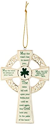 Kurt Adler 5.12-Inch Porcelain Irish Cross Ornament (YAMJ4102)