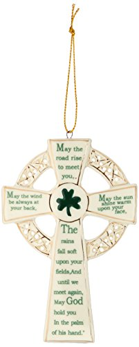 Kurt Adler 5.12-Inch Porcelain Irish Cross (Blessing Cross Ornament)