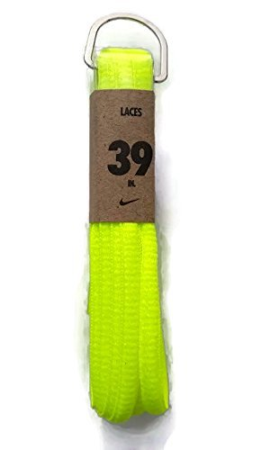 Nike Unisex Replacement Shoelaces Oval Cords Laces 39 Fluor Yellow