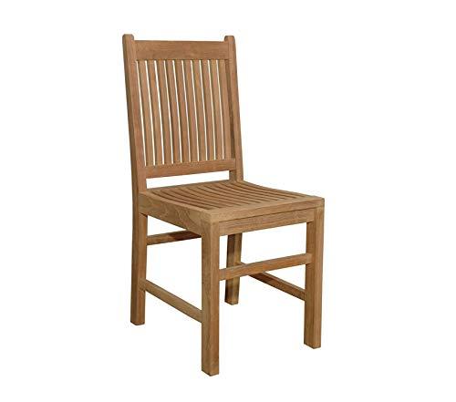 Аndеrsоn Tеаk Patio Outdoor Garden Premium Saratoga Dining Chair, Dimone Sequoia