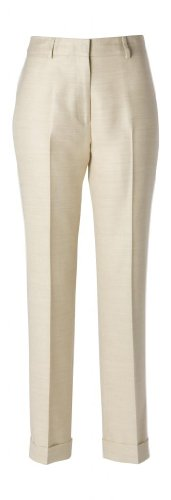 Woolmaster Women's Wool/Silk/Linen Dress Pant (Silk Slacks)