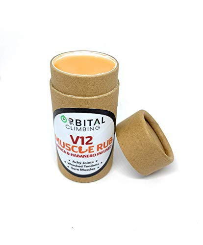 Boulder Balm: V12 Muscle Rub: Arnica and Habanero Infused Sore Muscle Salve 2.37oz (70ML) Eco Push Tube