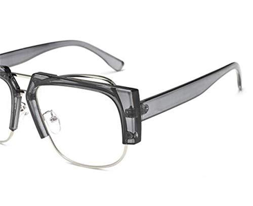 unisexes cadre voyager de protection de Cool l'extérieur de demi lunettes Verres mode Huyizhi Grey de UV400 1FCWqW