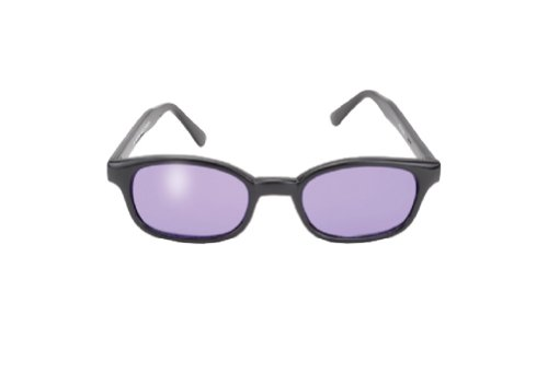 Original Kd's Biker Purple Lenses Black Frames - Kd Sunglasses Biker