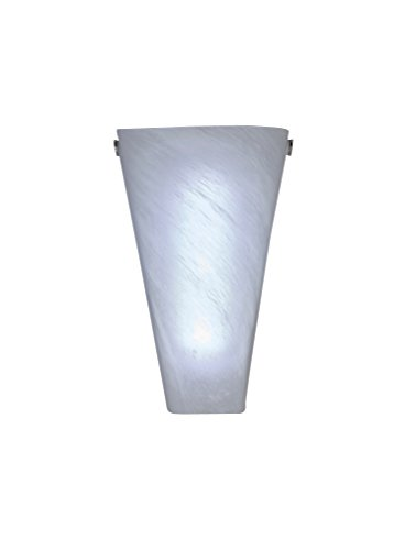 Its Exciting Lighting IEL-4400 Frosted Marble Glass Conical Sconce, Battery Powered Wall Sconce With 4 Hour Timer