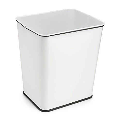 Polder Under-Counter Kitchen Trash Can, 7 gallon, White (Kitchen Under Counter Trash Can)