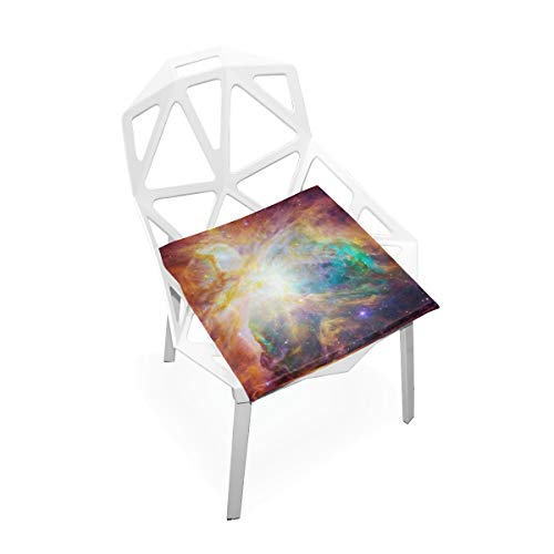 Jacksome Galaxy Green and Purple Nebula Sky Large Firm Seat Cushion Pad for Overweight Users Firm Memory Foam Chair Support Pillow for Wheelchair, Office & Car 16