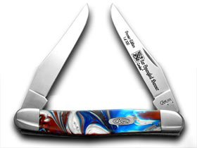 CASE XX Genuine Star Spangled Muskrat 1/500 Pocket Knife (Muskrat Case)