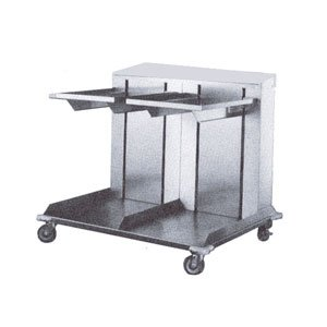 APW Wyott Lowerator Double Open Mobile Cantilever Dispenser, 10 x 14 inch Tray Size -- 1 each. ()