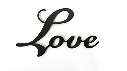 Small Love Black Metal Wall Word (Love Decor Wall)