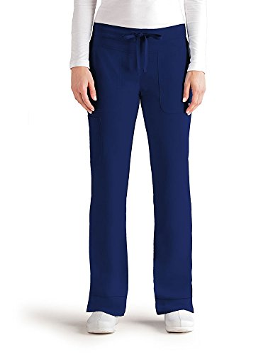 Grey's Anatomy Signature Women's 3 Pocket Low Rise Scrub Pant, Indigo, X-Small Tall