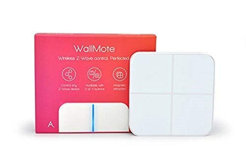 (Aeotec WallMote Quad, Z-Wave Plus Wireless Wall Switch, 4 Button, 16 Scene Remote Control)