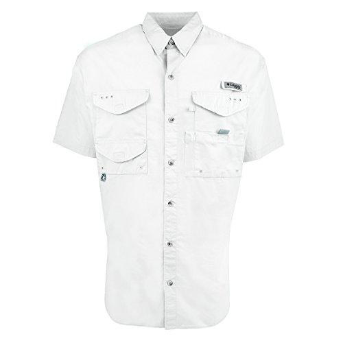 Columbia Men's Bonehead Short Sleeve Shirt, White, Large