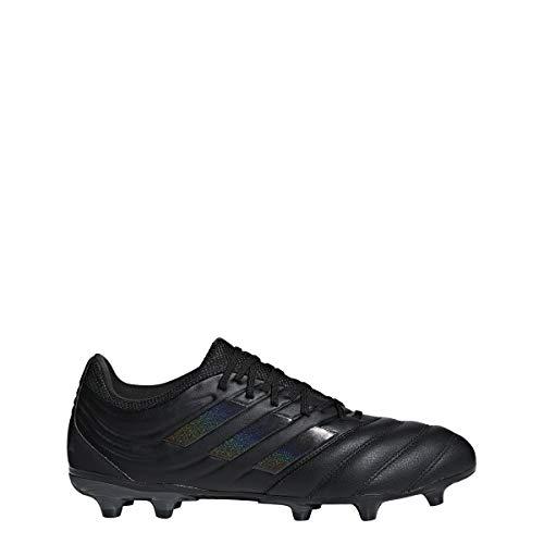 adidas Mens Copa 19.3 FG Soccer Cleats (9.5, Black/Black)