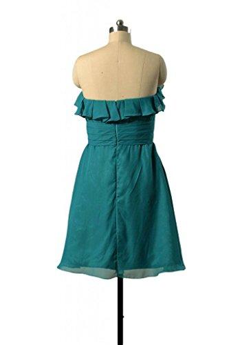 pine Party BM1549SD Sweet Chiffon Bridesmaid 43 Dress Green Dress DaisyFormals Short 7wqCTxP