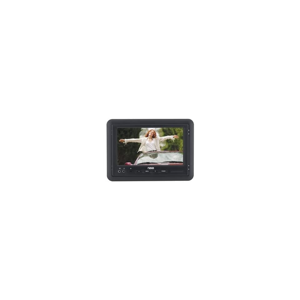 Naxa NCV 573 7 TFT LCD Car Headrest Monitor with Remote Control
