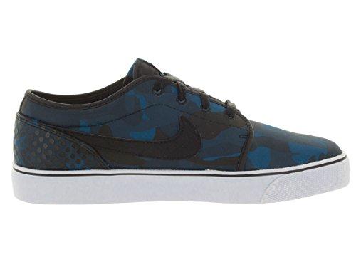 Nike Mens Toki Low Txt Print Scarpe Casual Brgd Blu / Blk / Sqdrn Bl / Obsdn