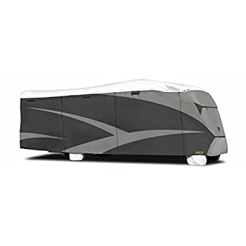 Image of RV & Trailer Covers ADCO 34814 Designer Series Gray/White 26' 1' - 29' DuPont Tyvek Class C Motorhome Cover