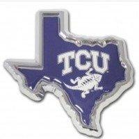 Texas Christian University (TX Shape with Color) Emblem by Elektroplate