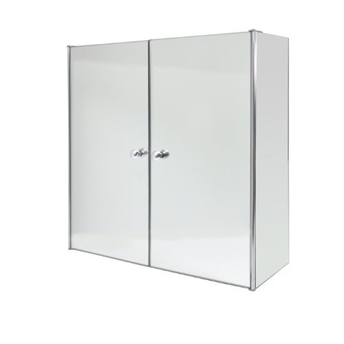 Roman at Home Stainless Steel Double Door Mirrored Cabinet