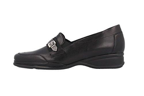Ria sEMLER mocassins femme-noir-chaussures en matelas grande taille