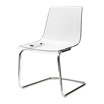 Ikea TOBIAS   Chair, Transparent, Chrome Plated