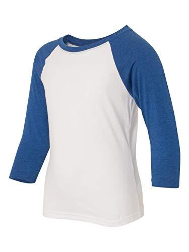 Next Level Big Boy's 3/4-Sleeve Rib-Knit T-Shirt, Medium, Royal / White ()