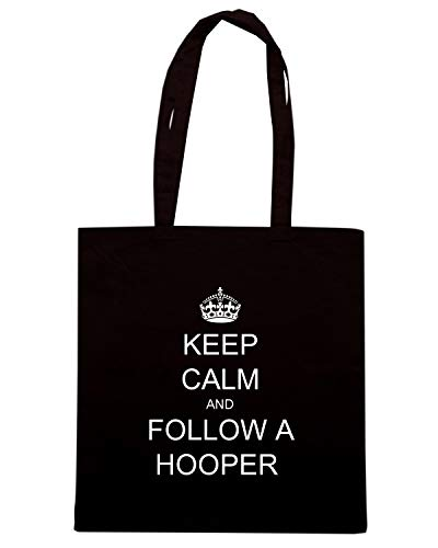 Shirt HOOPER A Borsa CALM AND FOLLOW Speed KEEP TKC2970 Shopper Nera 7U4naqRdw