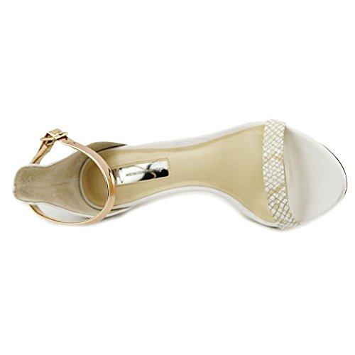 INC International Concepts Roriee Damen Synthetik Sandale Bright White