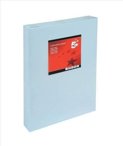 5 Star 936348 Farbkopierpapier, multifunktional, geriest, 80 g/m², A3, 500 Blatt, Hellblau